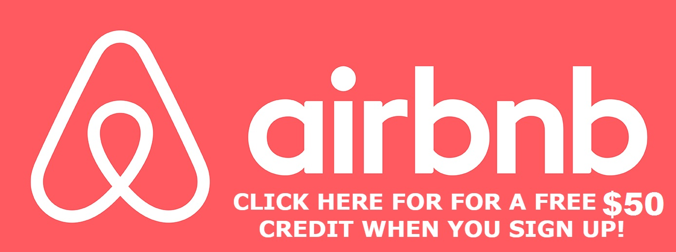 Click for AirBnB $50 Promo Code  :)